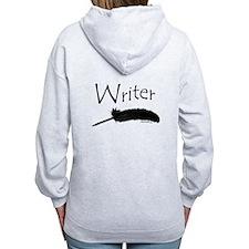 Writer with quill pen Zip Hoodie