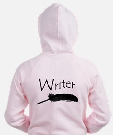 Writer with quill pen Zip Hoody