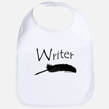 Writer with quill pen Bib