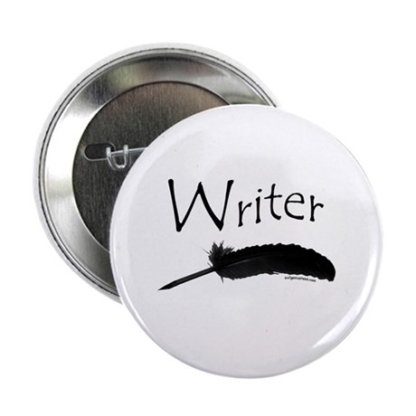 "Writer with quill pen 2.25"" Button"