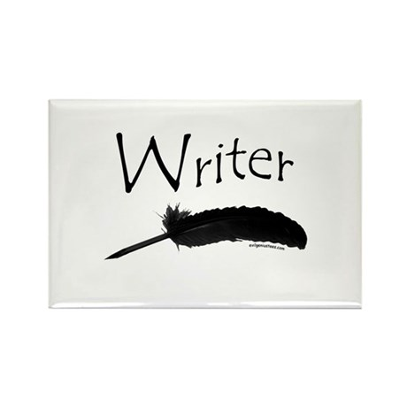 Writer with quill pen Rectangle Magnet (10 pack)