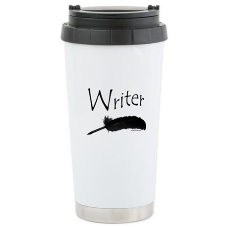 Writer with quill pen Stainless Steel Travel Mug