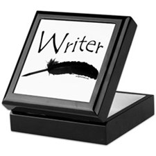Writer with quill pen Keepsake Box