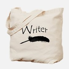Writer with quill pen Tote Bag