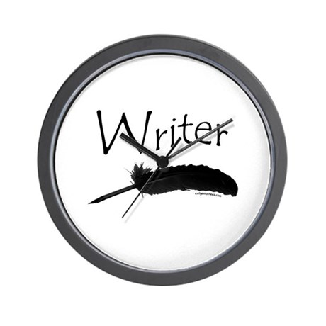 Writer with quill pen Wall Clock