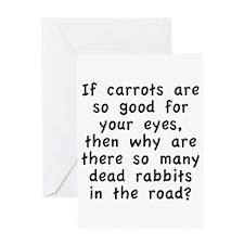 Dead Rabbits Greeting Card
