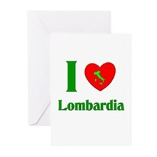 I Love Lombardia Italy Greeting Cards (Package of