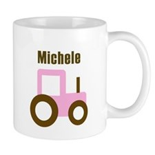 Michele - Pink/Brown Tractor Mug