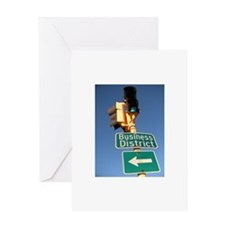 Business District Greeting Card