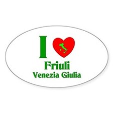 Friuli Venezia Giulia Italy Oval Decal