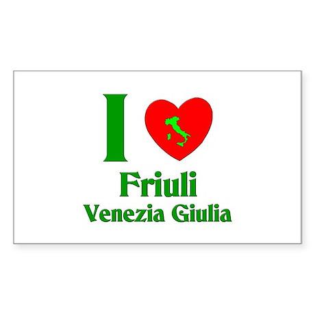 Friuli Venezia Giulia Italy Rectangle Sticker