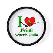 Friuli Venezia Giulia Italy Wall Clock