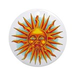 Sun Face Ornament (Round,Not Clear)