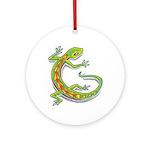 Lucky Lizard Ornament (Round,Not Clear)