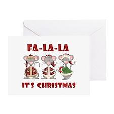 Fa La La Christmas Greeting Card