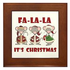 Fa La La Christmas Framed Tile