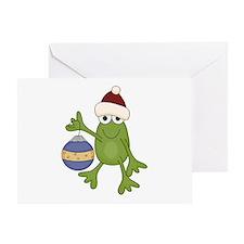 Santa Frog Greeting Card