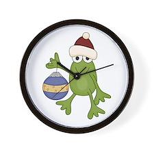 Santa Frog Wall Clock
