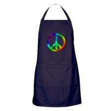 Tie Dye Peace Sign Apron (dark)