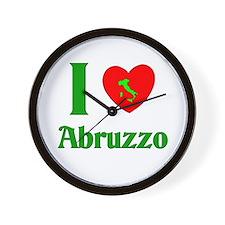 I Love Abruzzo Italy Wall Clock