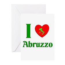 I Love Abruzzo Italy Greeting Cards (Pk of 10)