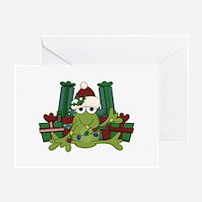 Froggy Christmas Greeting Card
