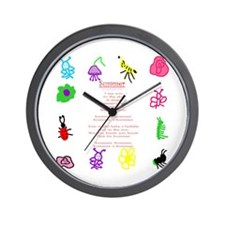 Summer Art & Poem Wall Clock