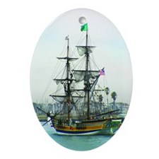 Tall Ships Oval Ornament