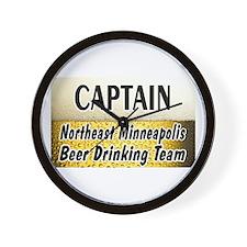 NE Minneapolis Beer Drinking Team Wall Clock