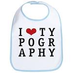 I Heart Typography Bib