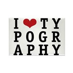 I Heart Typography Rectangle Magnet