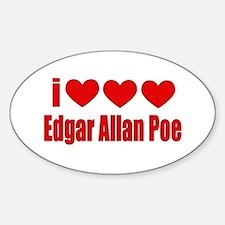 I Heart Poe Oval Decal