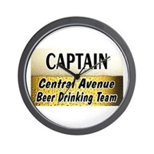 Central Avenue Beer Drinking Team Wall Clock