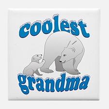 Coolest Grandma Tile Coaster