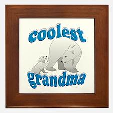 Coolest Grandma Framed Tile