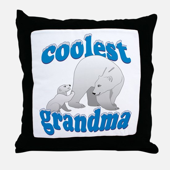 Coolest Grandma Throw Pillow