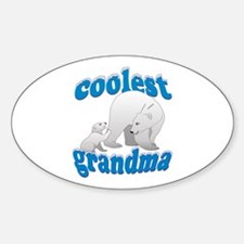Coolest Grandma Sticker (Oval)
