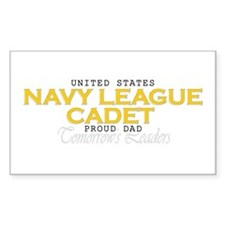 Navy League Dads Rectangle Decal