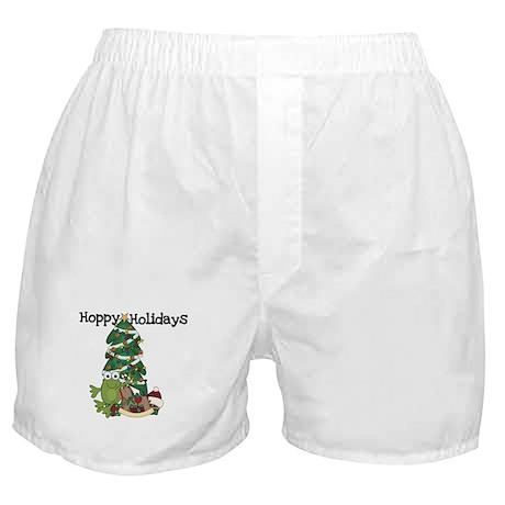 Frog Hoppy Holidays Boxer Shorts