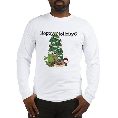 Frog Hoppy Holidays Long Sleeve T-Shirt