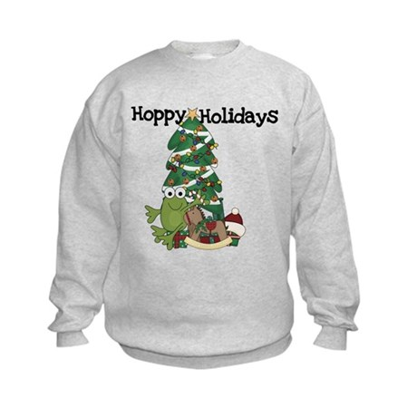 Frog Hoppy Holidays Kids Sweatshirt