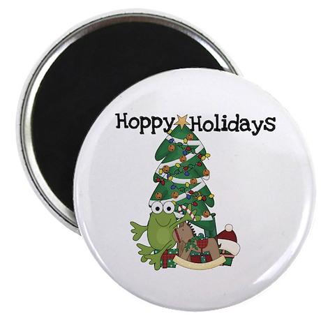 "Frog Hoppy Holidays 2.25"" Magnet (100 pack)"