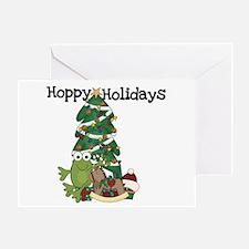 Frog Hoppy Holidays Greeting Card