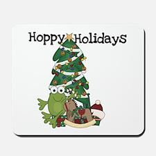 Frog Hoppy Holidays Mousepad