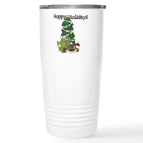 Frog Hoppy Holidays Stainless Steel Travel Mug