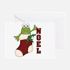 Noel Frog Greeting Card