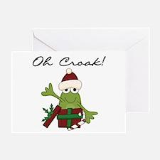 Bah Humbug Frog Greeting Card