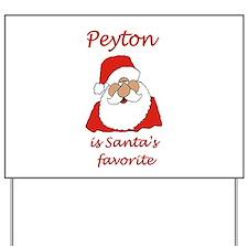peyton christmas Yard Sign