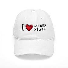 Texas I love my red state Baseball Cap