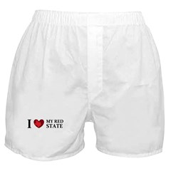 Texas I love my red state Boxer Shorts